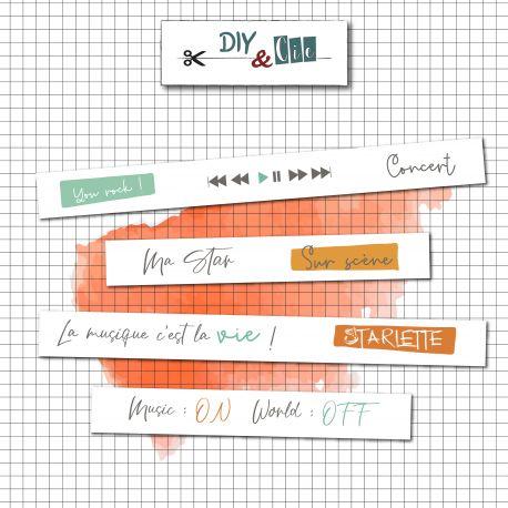 Masking Tape Stars 15mm - DIY and Cie