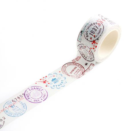 Washi Tape 14-Passport Stamps-AALL and Create