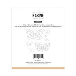 Pochoir Broderie Bienvenue chez moi Butterflies -Les Ateliers de Karine