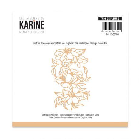 Die Bienvenue chez moi Trio de fleurs -Les Ateliers de Karine