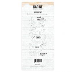 Tampon clear Bienvenue chez moi A fleur de peau - Les Ateliers de Karine