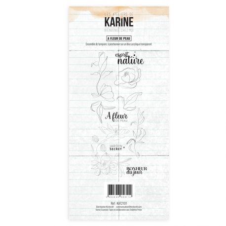 Clear Stamp Bienvenue chez moi A fleur de peau - Les Ateliers de Karine