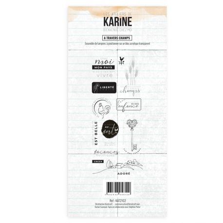 Clear Stamp Bienvenue chez moi A travers champs - Les Ateliers de Karine