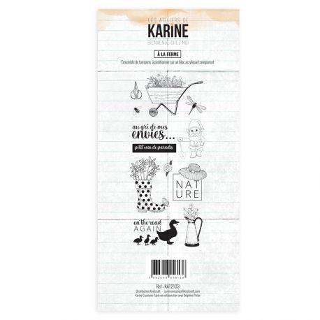 Clear Stamp Bienvenue chez moi A la ferme - Les Ateliers de Karine