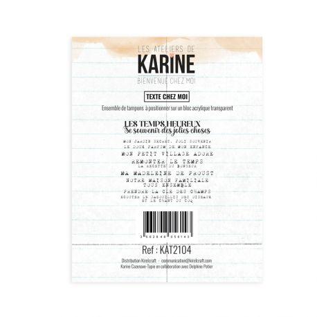 Clear Stamp Bienvenue chez moi Texte chez moi - Les Ateliers de Karine