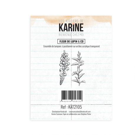 Tampon clear Bienvenue chez moi Fleur de lupin & co - Les Ateliers de Karine