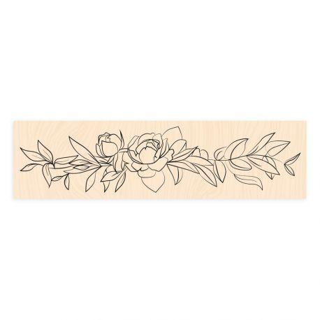 Wooden Stamp Bienvenue chez moi Délicate -Les Ateliers de Karine