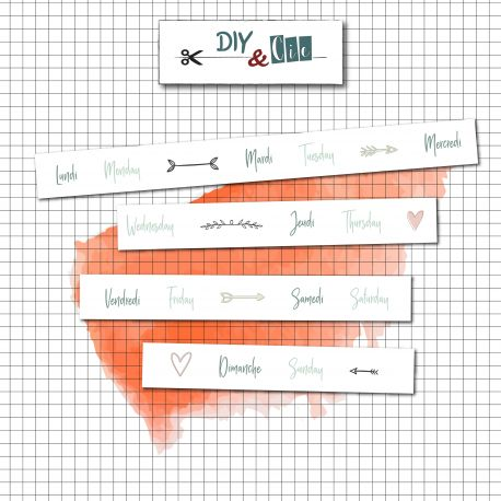 Masking Tape Planning 8mm - DIY and Cie