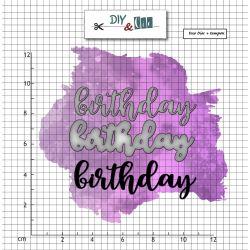 Set combined die-stamp Birthday - DIY and Cie