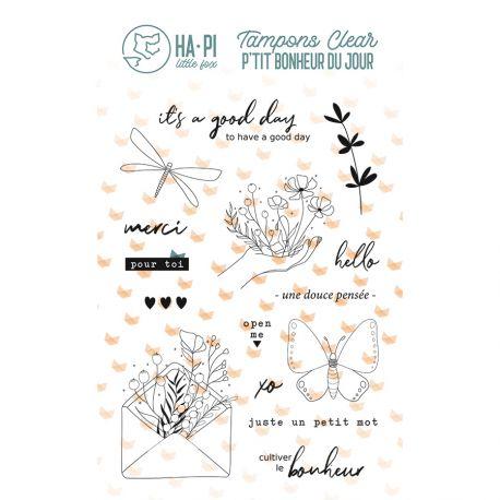 Clear stamps Un petit mot - HA PI Little Fox
