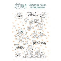 Clear stamps Hapi au jardin - HA PI Little Fox