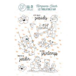Tampons clear Hapi au jardin - HA PI Little Fox