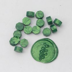 Beads of wax Bottle green - DIY and Cie