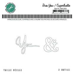 Matrice de découpe Duo You Esperluette - Mes P'tits Ciseaux