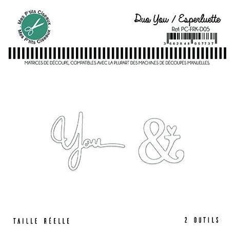 Dies Duo You Esperluette - Mes P'tits Ciseaux