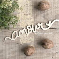 Wooden words - AMOUR - Stampam