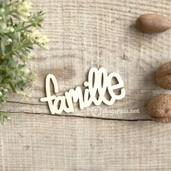 Wooden words - FAMILLE - Stampam