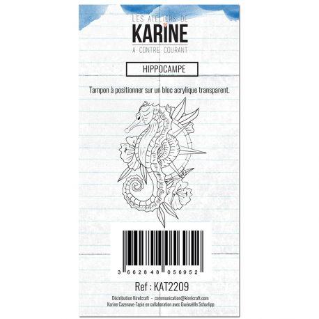 Clear Stamp A contre courant Hippocampe - Les Ateliers de Karine