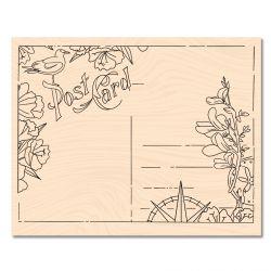 Tampon bois A contre courant Carte postale -Les Ateliers de Karine