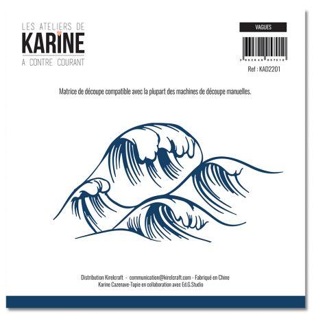 Die  A contre courant Vagues -Les Ateliers de Karine