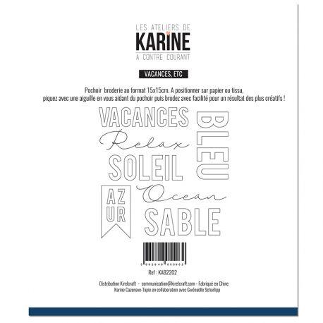 Sewing stencil A contre courant Vacances, etc -Les Ateliers de Karine