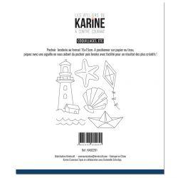 Sewing stencil A contre courant Coquillages, etc -Les Ateliers de Karine