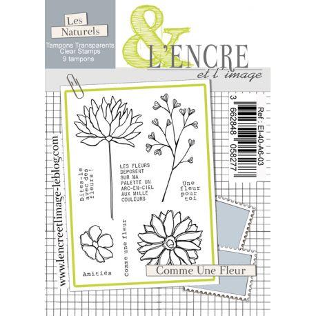 Tampon clear - Comme une Fleur - L'Encre et l'Image