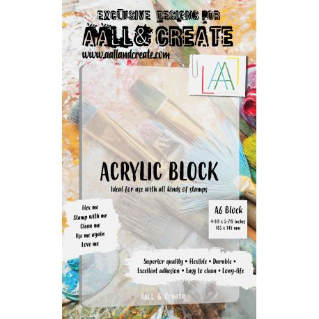 AALL and Create A6 Acrylic Block