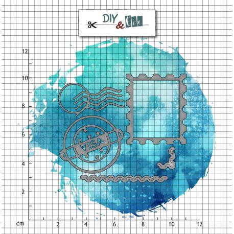 Set de dies - Timbres - DIY and Cie