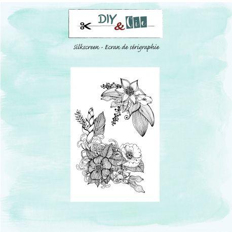 Silkscreen - Parterre de fleurs - DIY and Cie