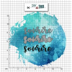 Duo die tampon clear - sourire - DIY and Cie