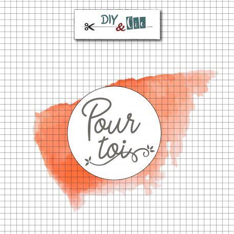 Sceau en laiton Pour toi - DIY and Cie