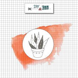 Sceau en laiton Aloe vera - DIY and Cie