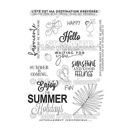 Clear stamp Summer - Mes Ptits Ciseaux