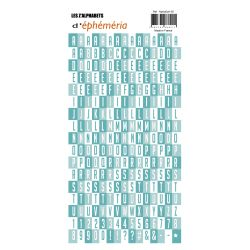 Stickers Z'alphabets turquoise