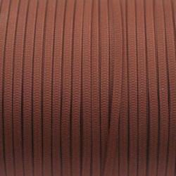 ruban 3mm marron chocolat