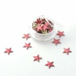 Étoiles rose métallisé