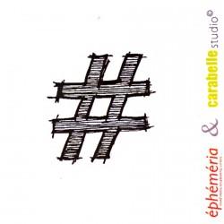 Tampon Hashtag Grunge