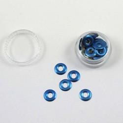 Anneaux métalliques bleu