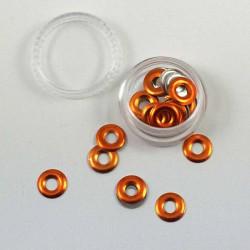 Anneaux métalliques orange