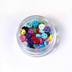 Boîte de 100 boutons minuscules multicolores
