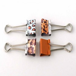 "Lot de 4 pinces bureau double-clip ""Africa"""