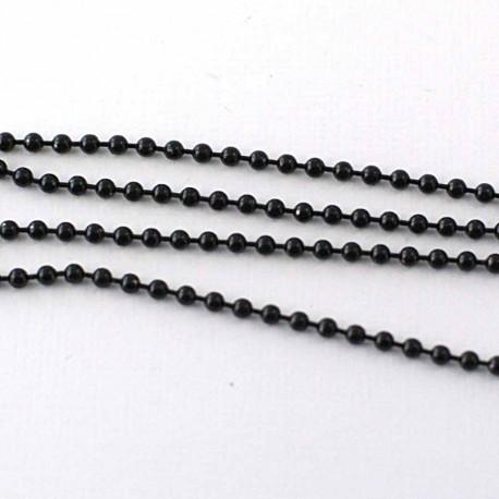 Chainette boule noire 1m