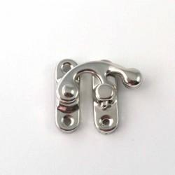 Loquet métal argenté