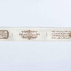Ruban sergé motifs vintage