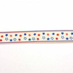 Ruban étoiles blanc/bleu, rouge