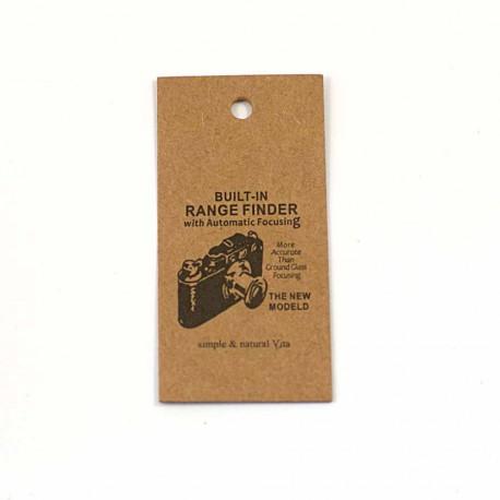 Petite étiquette cartonnée motif appareil photo