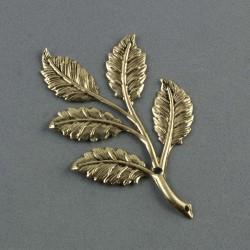 Feuillage métal bronze clair