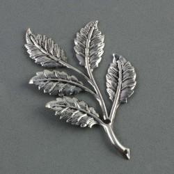 Feuillage métal argenté