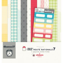 Route nationale 7 collection 6 feuilles + stickers